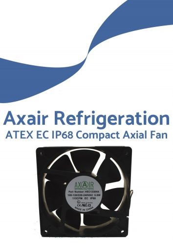 ATEX EC IP68 compact axial fan cover